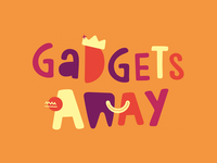Gadgets Away Typographic Book Cover