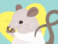 Norbie digital painting brush texture rat drawing illustration