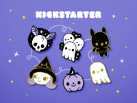 Creepy Cute Halloween Enamel Pins