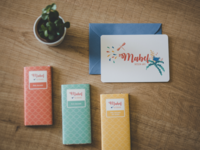 birth card & chocolate wraps