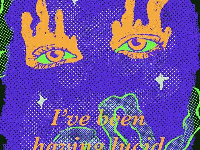Drawing Again music typography ipad procreate illustration