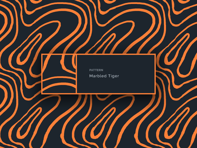 Marbled Tiger marbling illustration branding pattern