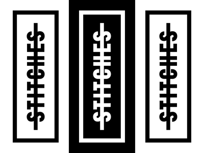 Stiches And Stripes vector illustration brand logo branding