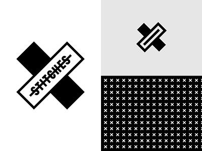 Lockup And Icon stitch cross branding logo brand illustration vector