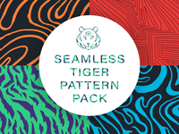 Seamless Tiger Pattern Pack