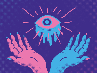 Playing with some new color palettes all hail goop eye boi cult eyes hands