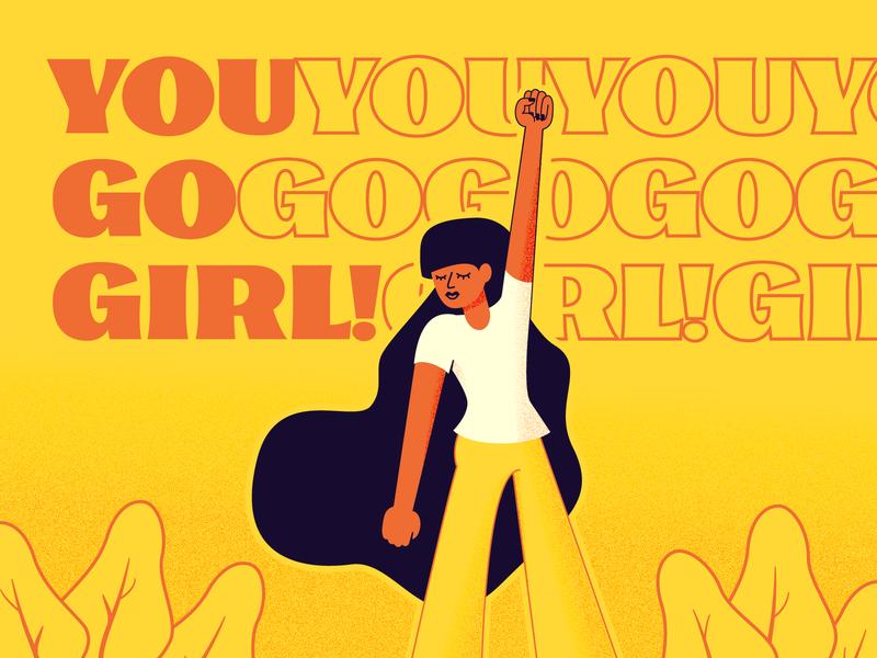 You go girl! internationalwomensday design womanhood woman illustration