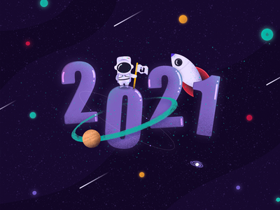 Going back to the stars in 2021 usertive 2021 planets cosmonaut starship stars cosmos space happy new year new year