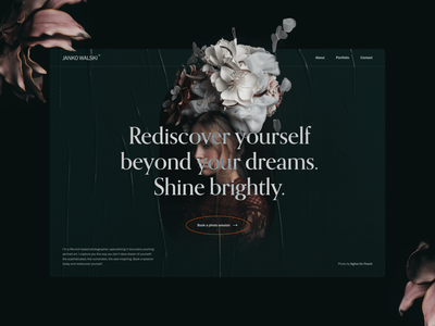 Concept website for portrait photographer web web design sophisticated photography portrait portfolio dark typography website concept design editorial minimal clean ux ui