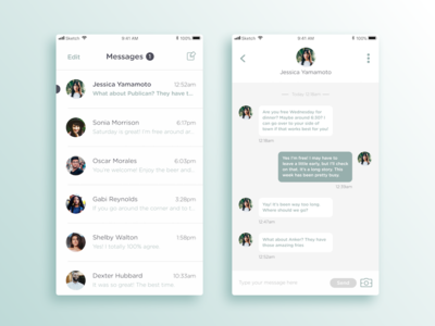 Daily UI #013 - Direct Messaging