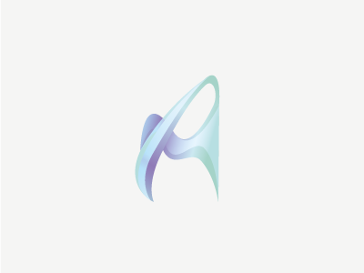 AM monogram logo monogram a m blue abstract form