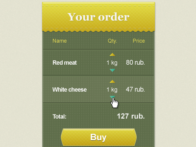 Freshproducts store yellow green fresh products shopping cart list