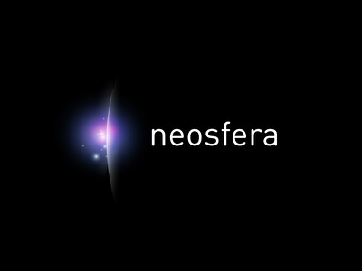 Neosfera esoteric modern star glow blue consulting psychology color space logo