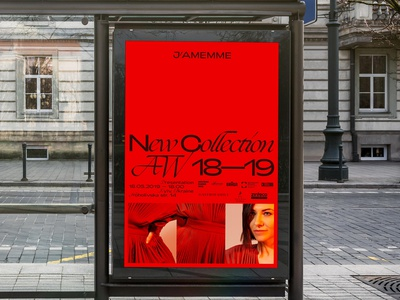 Jamemme Street Lightbox fashion red logo identity branding typography advertising print