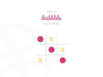 Hello Dribbble! hellodribbble hello game ui design