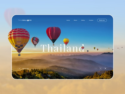 Thailand Balloon Website travel logo ui design thai hobby holiday summer uidesign travel balloon book now website concept travelling chiang mai minimal travel balloon uiux ui website design website thailand