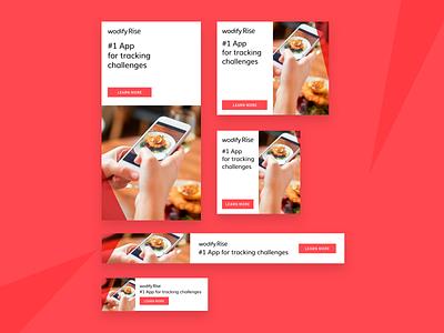Display Ad Set minimal visual graphic design display ads advertising digital