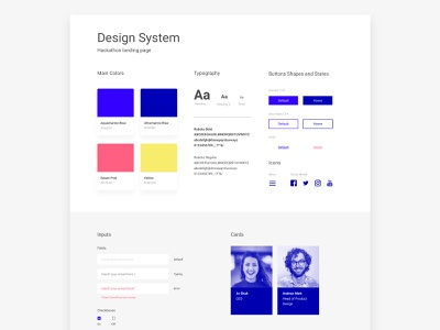 Design system style guide guidelines website design colors typography design system buttons