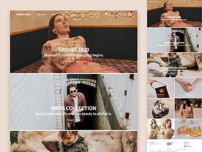 Fashion website concept desktop branding fashion brand fashion ux minimal layout visual design website concept website