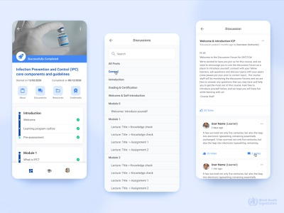 Discussion forum in online learning systems online elearning visual product design product android ios mobile design ux uiux usability user experience ui
