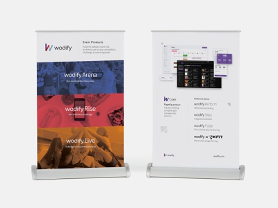 Wodify @ Tabletop Retractable Banner banner branding visual marketing page design standup stand print communication layout design graphic
