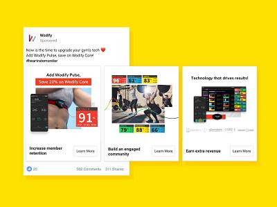 Facebook Ads   Wodify Pulse communication facebook ads facebook ads fitness illustration branding ui minimal visual layout wodify graphic design