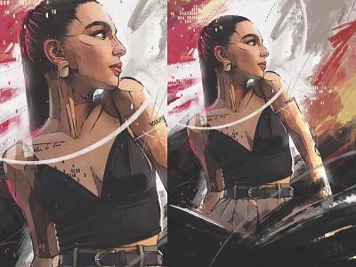 MARIECHER ipad pro procreate art procreate digital illustration digital art illustration art portrait art picture poster illustrator draw art artist illustration graphic art drawing