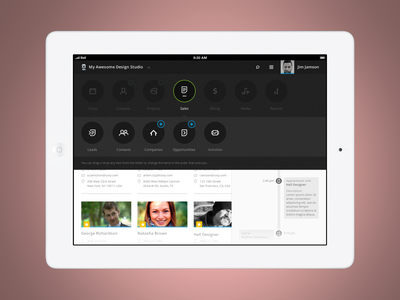 Responsive Menu (Tablet version) ios app design ui ux menu responsive web website black minimal circle add