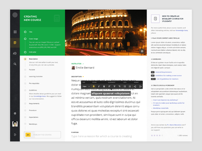 Course Creation task add circle minimal black website web green ux ui student course