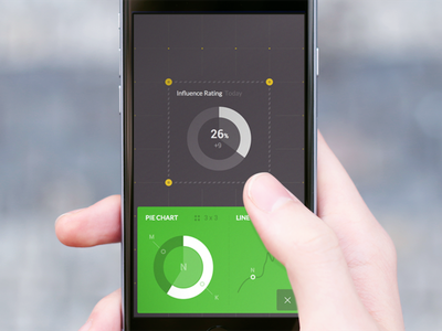 Dashboard building app iphone ux green widget black dashboard ui mobile