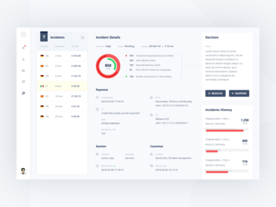 Fraud UI for a Bank