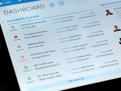 iPad App Design \\ Manager Dashboard by Yura Yarokhovich on