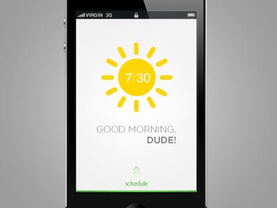 iPhone App Design /// Alarm clock