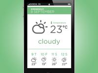 iPhone App Design /// Weather 2