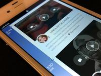 iPhone App Design /// Vertical Timeline