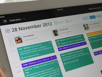 Calendar (final) app clean interface ipad ui ux calendar meeting person