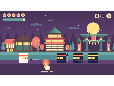 Tap Ninja interface illustration illustrator vector design runner android gui game flat art 2d interfase