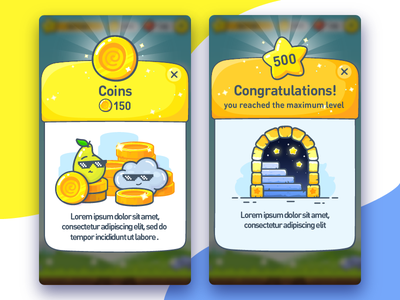 Lingvotree UI language levels stairs cloudapp pear star coins interace ui game line flat