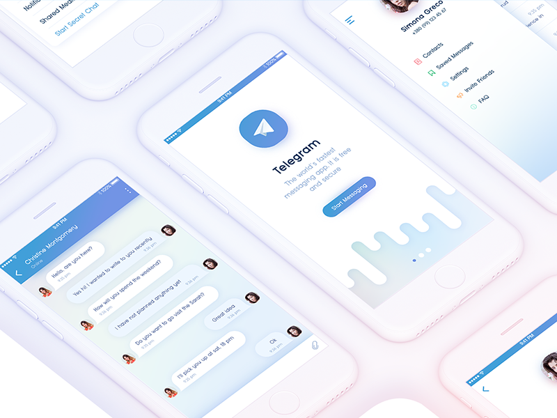 Telegram Messenger App for IOS  Redesign by Yana Holtseva