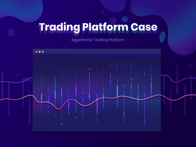 Trading Platform Case glow trade dashboard home landing market bright bitcoin gradient violet graph currency crypto trading waves chart creative animation mobile web