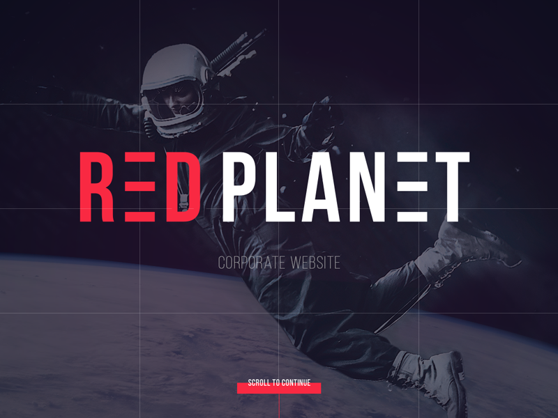 Red Planet | Case Study black dark awwwards landing website typography stylish astronaut planet earth nasa space collage project scroll lines corporate logo red creative web