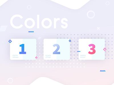 Colors  - Telegram Messenger App for IOS. Redesign light pink presentation guideline cards ui blocks web gradient shapes numbers dots messenger telegram redesign composition typography color scheme color palette pallete colors