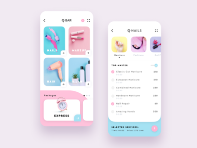 G.Bar Beauty App Redesign