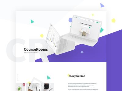 Course Rooms. Educational Web Platform