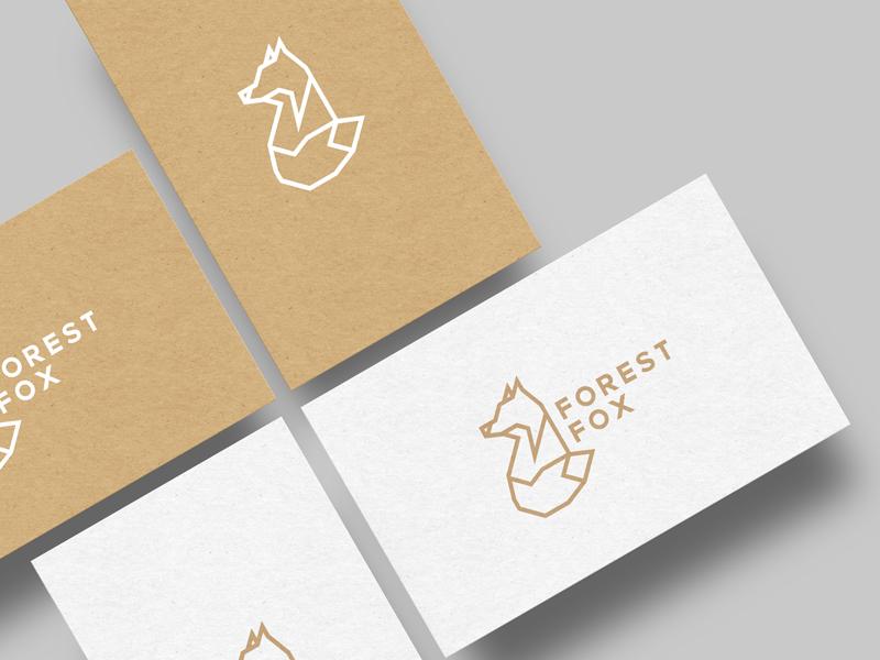Forest Fox geometrical logotype vector symbol identity mark animal fox forest logo