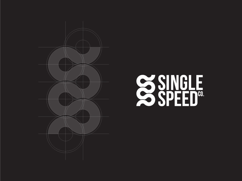 Single Speed Co. Logo chain branding icon logo logotype symbol vector logogrid bicycle fixed road cycle