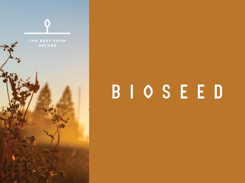 B I O S E E D identity agriculture seed mark logotype flat logo symbol icon design bioseed brandidentity branding