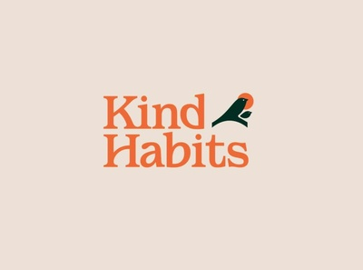 Kind Habits Logo bird animal illustration brand design identity design identity branding logo logo design