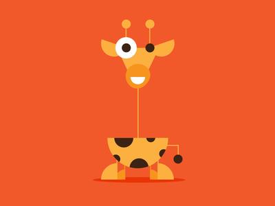 Animal Illustrations kids bird whale monkey giraffe vector illustration animals