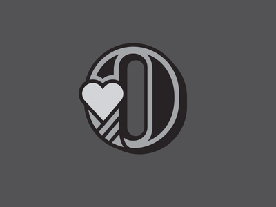 Type 01 love heart o typography